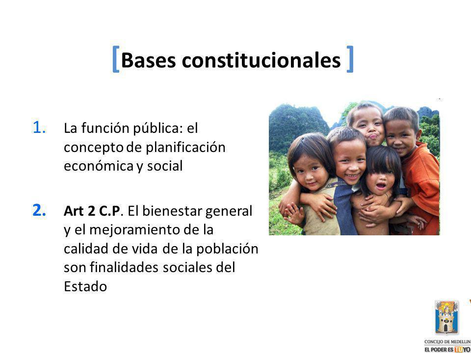 [Bases constitucionales ]